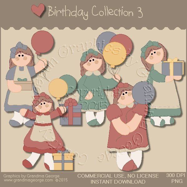 Birthday Graphics Collection Vol. 3