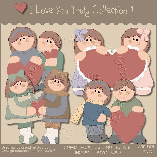 I Love You Truly Graphics Collection Vol. 1