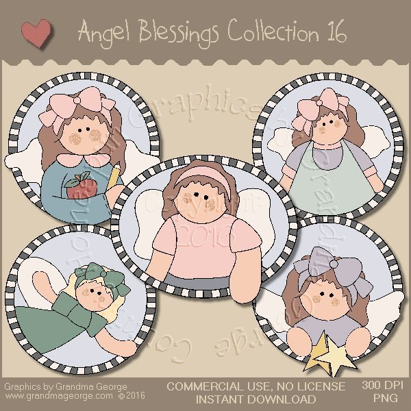 Angel Blessings Country Graphics Collection Vol. 16