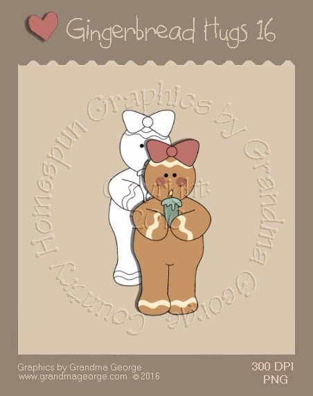Gingerbread Hugs Single Country Graphic 16