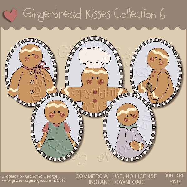 Gingerbread Kisses Country Graphics Collection Vol. 6