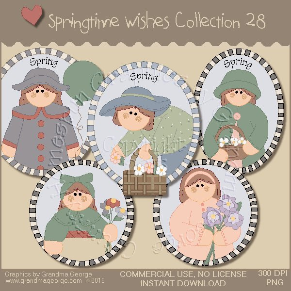 Country Springtime Wishes Graphics Collection Vol. 28
