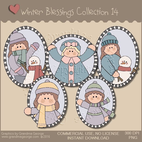 Winter Blessings Country Graphics Collection Vol. 14