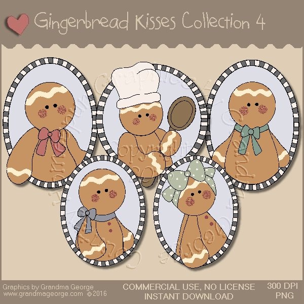Gingerbread Kisses Country Graphics Collection Vol. 4