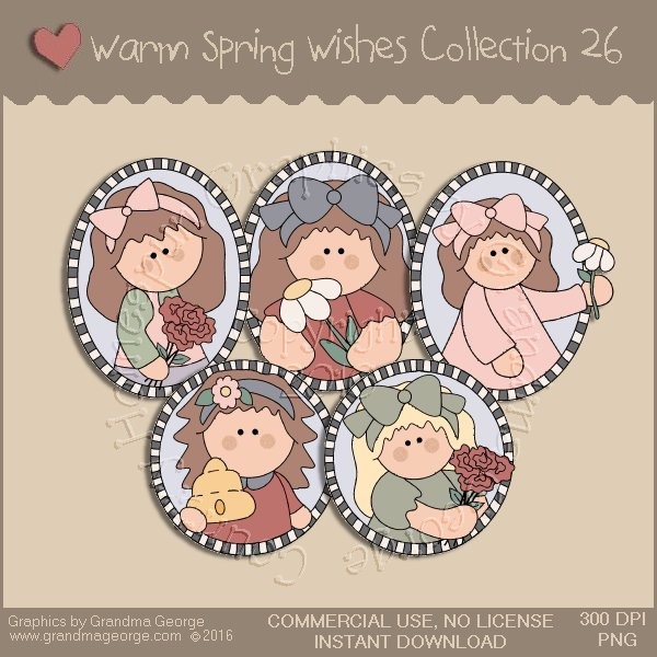Warm Spring Wishes Country Graphics Collection Vol. 26