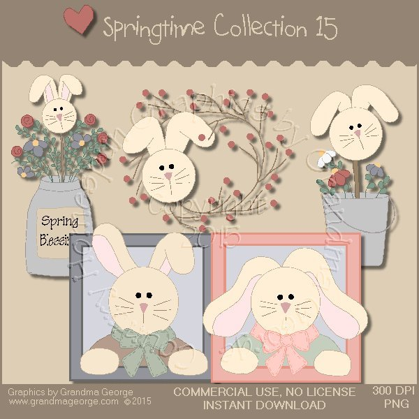 Country Springtime Graphics Collection Vol. 15