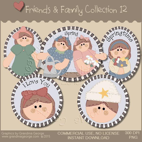 Friends & Family Graphics Collection Vol. 12