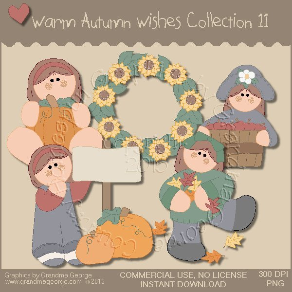 Warm Autumn Wishes Graphics Collection Vol. 11