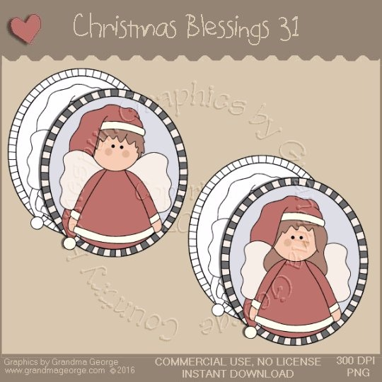Christmas Blessings Single Country Graphic 31