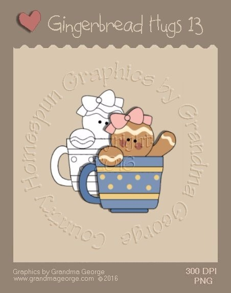 Gingerbread Hugs Single Country Graphic 13