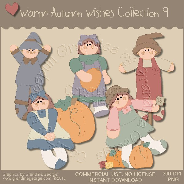Warm Autumn Wishes Graphics Collection Vol. 9
