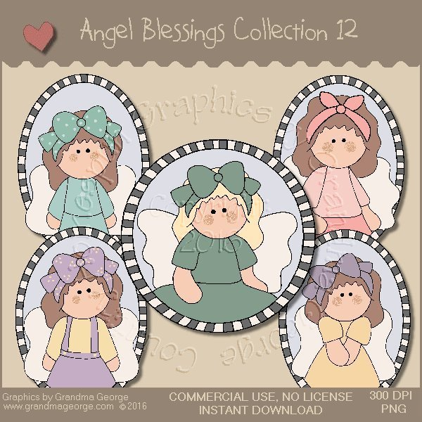 Angel Blessings Country Graphics Collection Vol. 12