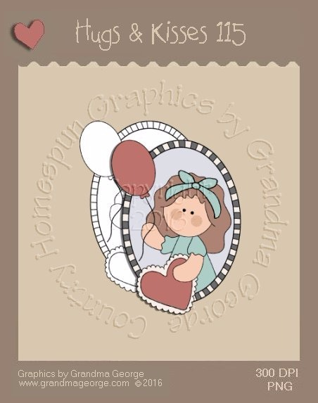 Hugs & Kisses Valentine Single Country Graphic 115
