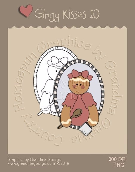 Gingy Kisses Single Country Graphic 10