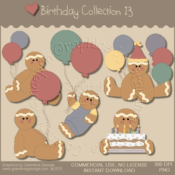 Birthday Graphics Collection Vol. 13