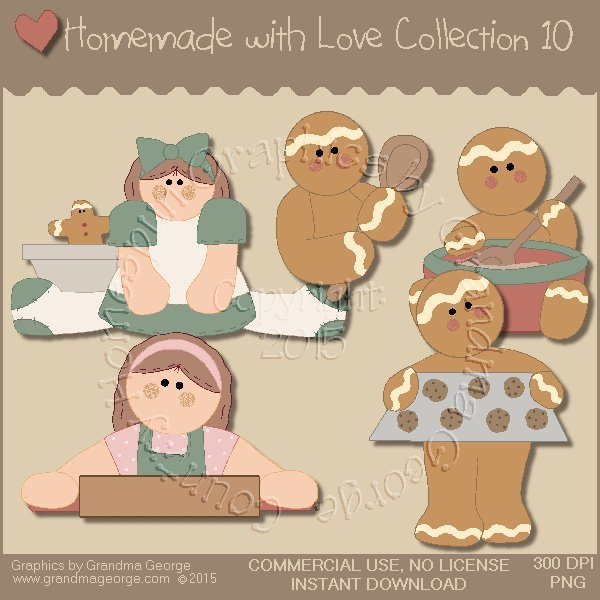 Homemade with Love Graphics Collection Vol. 10