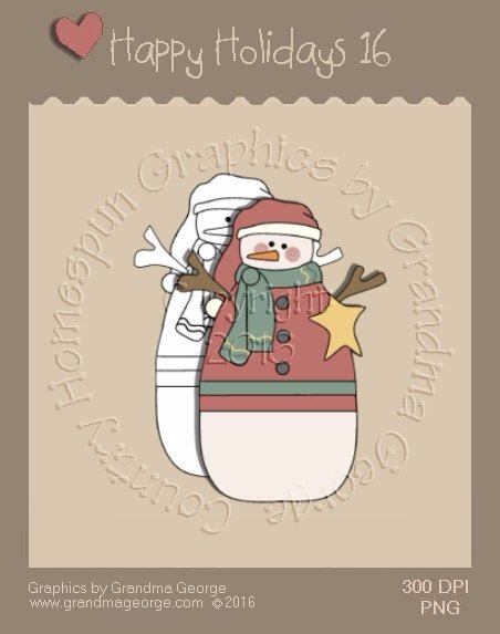 Happy Holidays Christmas Single Country Graphic 16
