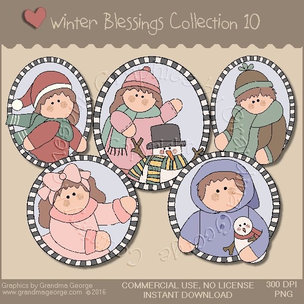 Winter Blessings Country Graphics Collection Vol. 10
