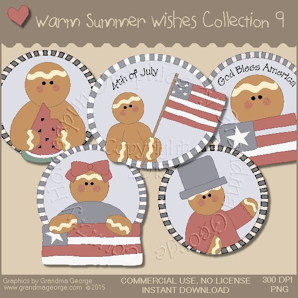 Warm Summer Wishes Graphics Collection Vol. 9