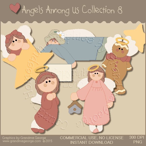 Angels Among Us Graphics Collection Vol. 8
