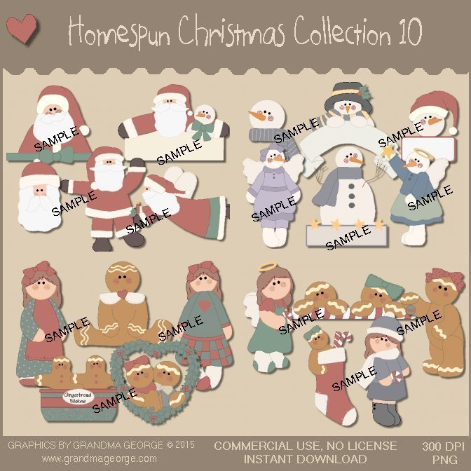 Homespun Christmas Collection Vol. 10