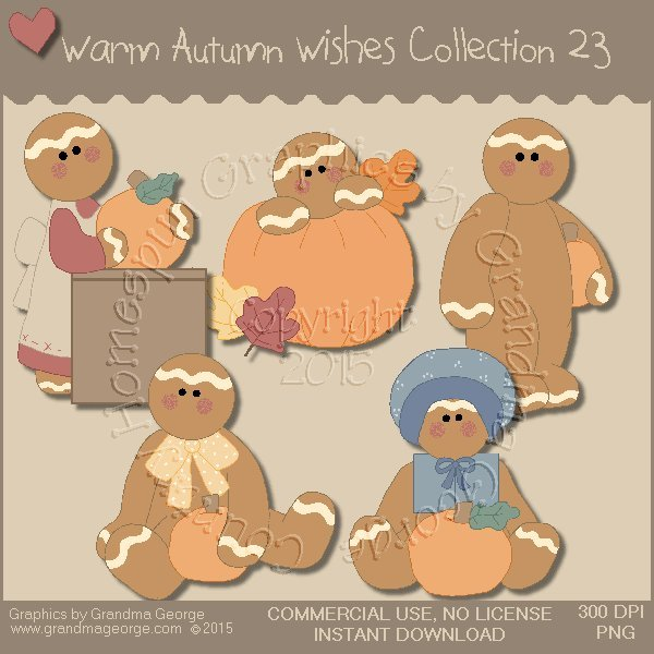 Warm Autumn Wishes Graphics Collection Vol. 23