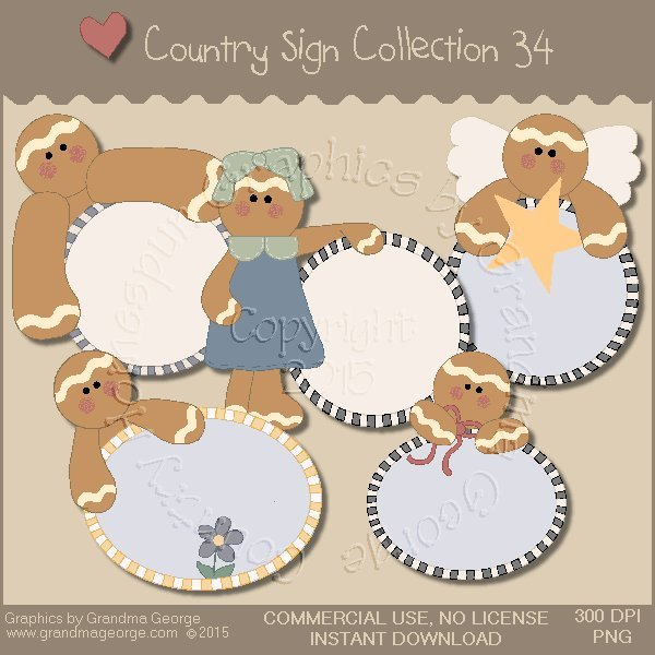 Country Sign Graphics Collection Vol. 34