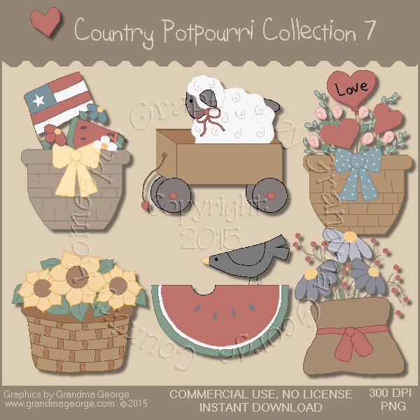 Country Potpourri Graphics Collection Vol. 7