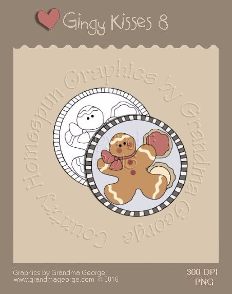 Gingy Kisses Single Country Graphic 8