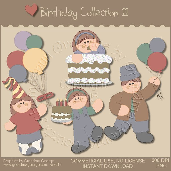 Birthday Graphics Collection Vol. 11