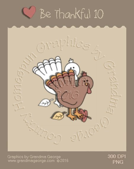 Be Thankful - Thanksgiving Single Country Graphic 10