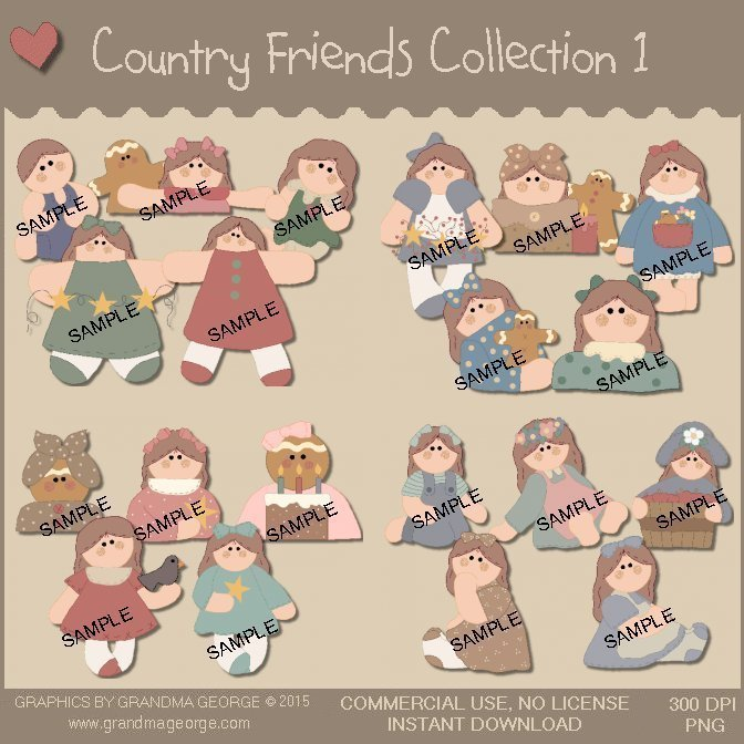 Country Friends Graphics Collection Vol. 1