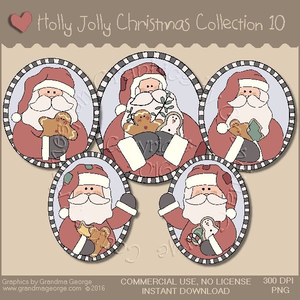 Holly Jolly Christmas Country Graphics Collection Vol. 10