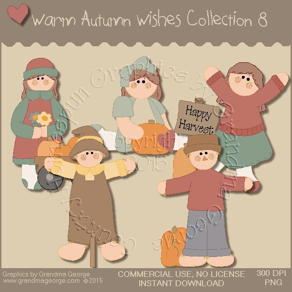 Warm Autumn Wishes Graphics Collection Vol. 8