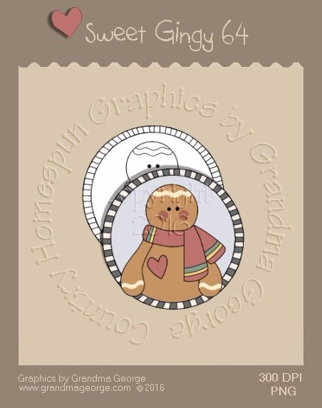 Sweet Gingy Single Country Graphic 64