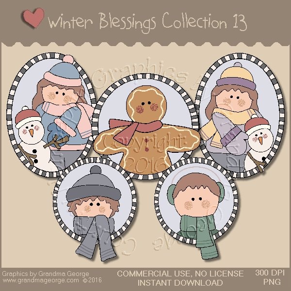 Winter Blessings Country Graphics Collection Vol. 13