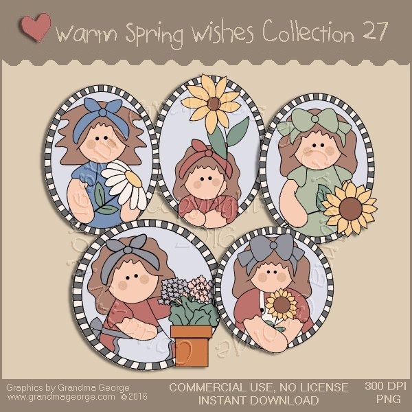 Warm Spring Wishes Country Graphics Collection Vol. 27