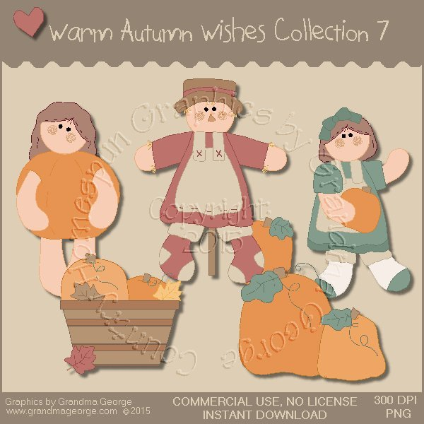 Warm Autumn Wishes Graphics Collection Vol. 7