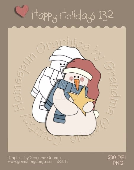 Happy Holidays Christmas Single Country Graphic 132
