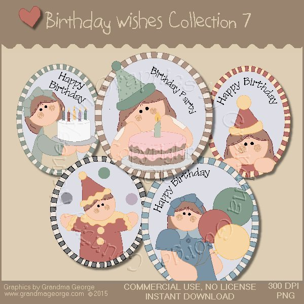 Birthday Wishes Country Graphics Collection Vol. 7