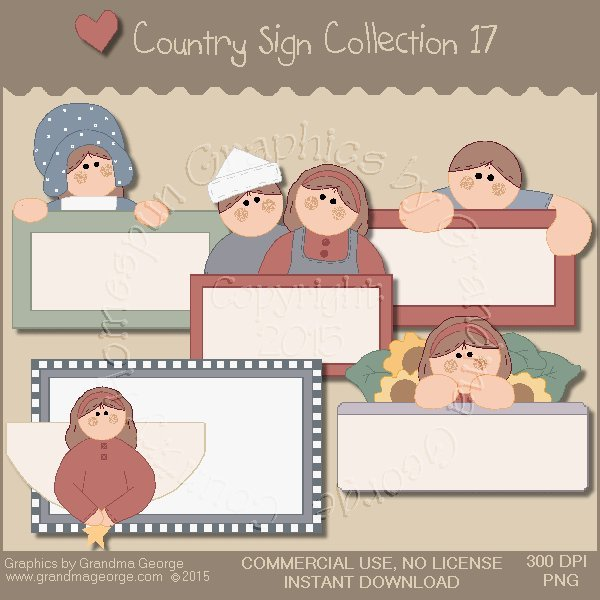 Country Sign Graphics Collection Vol. 17