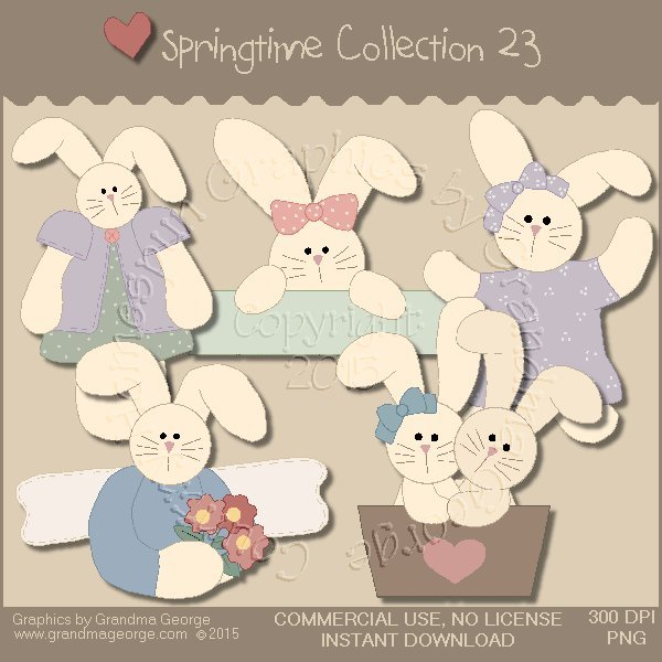 Country Springtime Graphics Collection Vol. 23