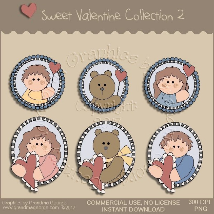 Sweet Valentine Country Graphics Collection Vol. 2