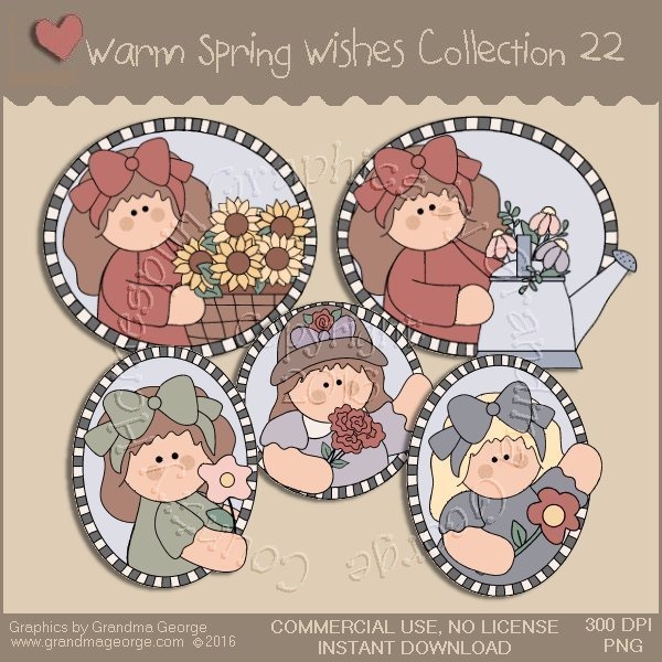 Warm Spring Wishes Country Graphics Collection Vol. 22