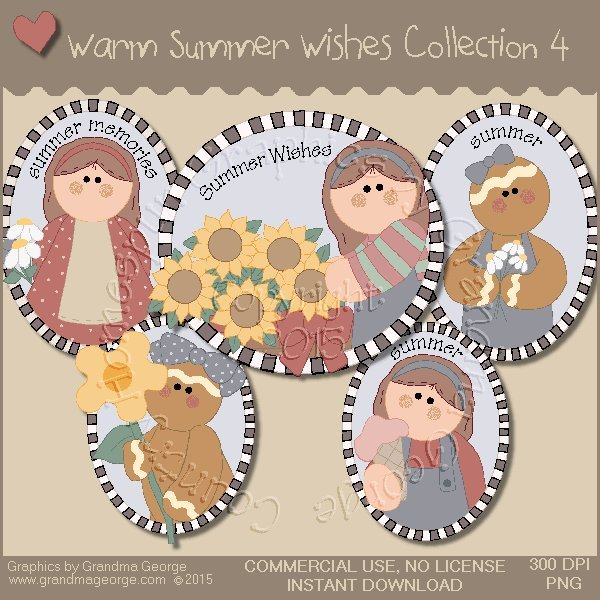 Warm Summer Wishes Graphics Collection Vol. 4
