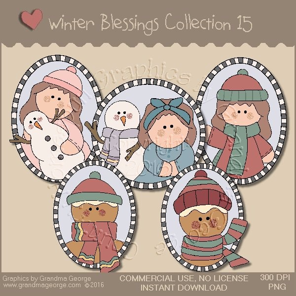 Winter Blessings Country Graphics Collection Vol. 15