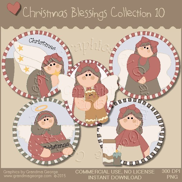 Christmas Blessings Graphics Collection Vol. 10
