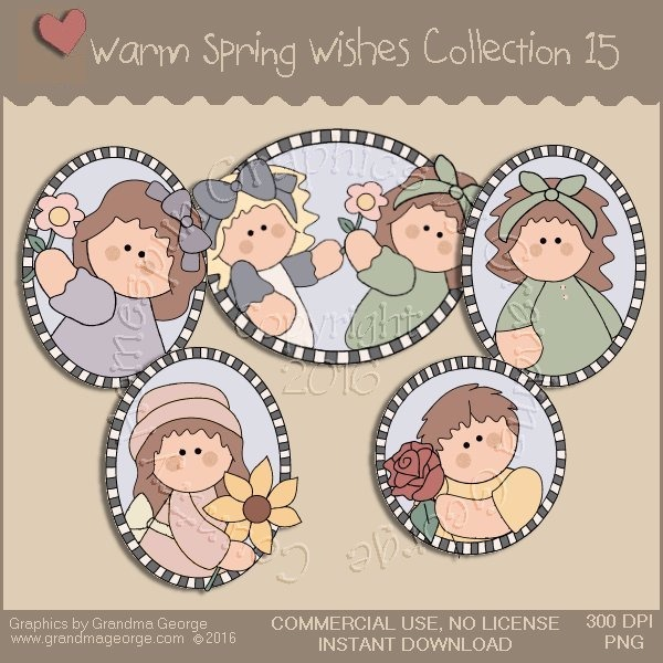 Warm Spring Wishes Country Graphics Collection Vol. 15