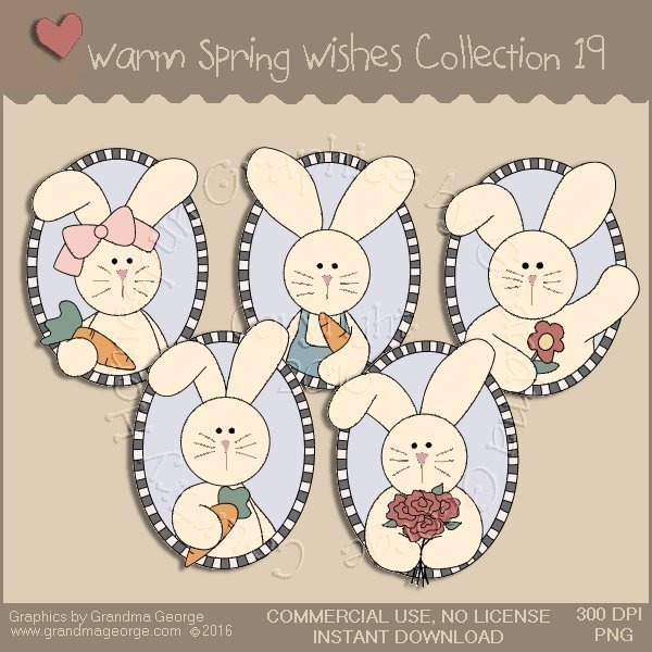 Warm Spring Wishes Country Graphics Collection Vol. 19