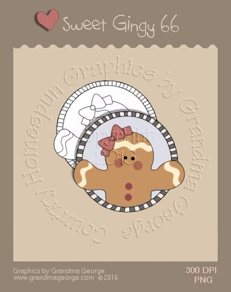 Sweet Gingy Single Country Graphic 66